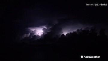 Flying through Tropical Storm Nestor