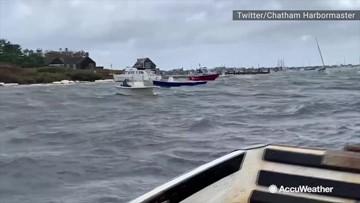 Winds stir up choppy seas along Cape Cod