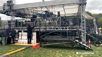 Time-lapse video of College Gameday setup at Penn State