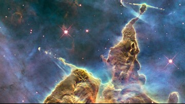 Check Out Carina Nebula's Three Light-Year-Tall 'Mystic Mountain'