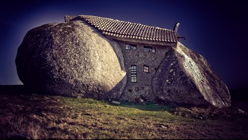 Magical Cottage in Portugal is Made Out of Boulders, 'Flintstones'-Style