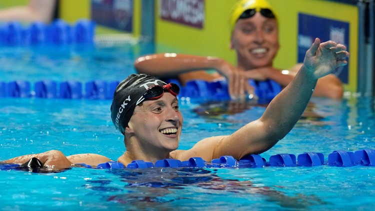 Katie Ledecky easily wins 400 meters at Olympic trials to punch Tokyo ticket