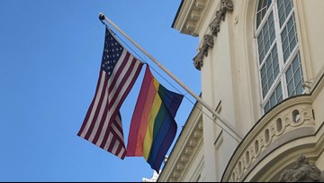 VP Pence defends decision rejecting embassies' requests to fly Pride flag