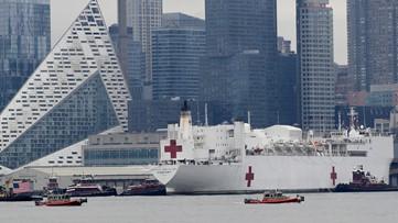 Coronavirus live updates: Navy hospital ship arrives in NYC, Tokyo Olympics set new dates