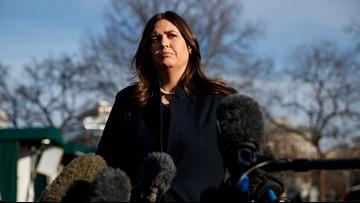 White House press secretary Sarah Sanders leaving Trump administration