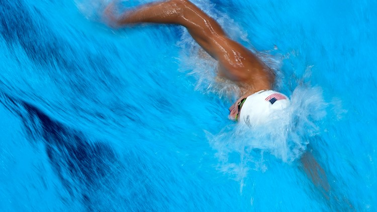 Finke wins swimming gold for US in 1500m