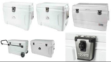 Igloo recalls 60,000 coolers; children can get trapped, suffocate