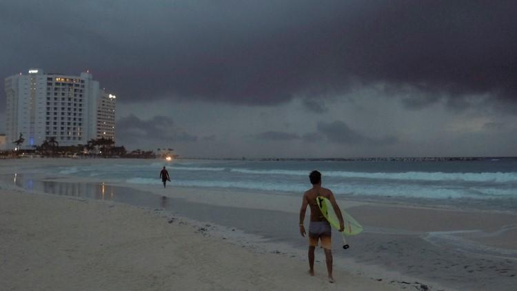 Zeta becomes a hurricane Monday and nears Mexico's Yucatan Peninsula, heading for US