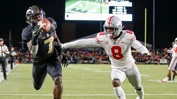 College football's No. 2 team Ohio State upset by Purdue