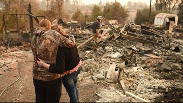 Rain could hinder California wildfire victim search