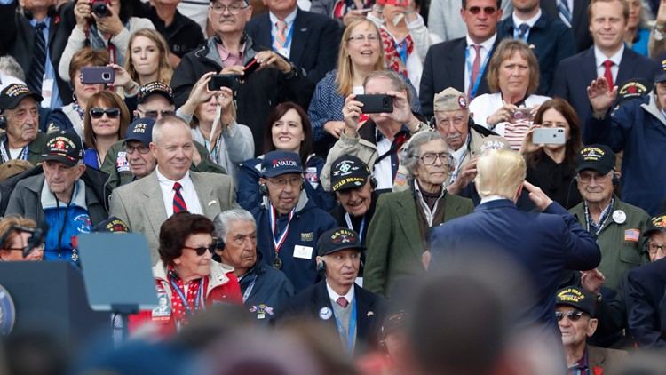 France D-Day Anniversary Trump saluting veterans