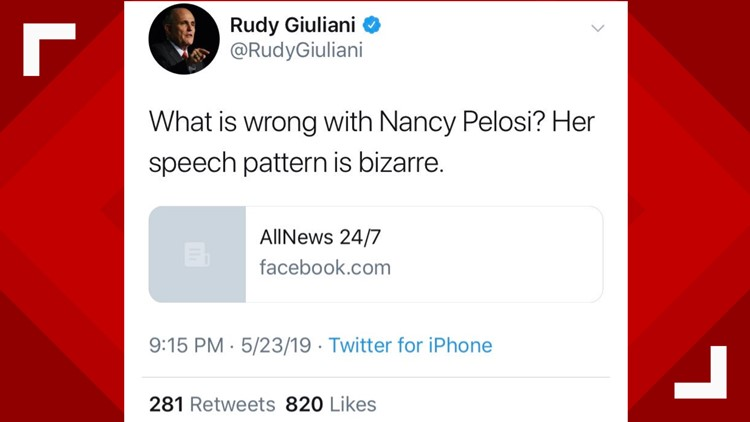 Giuliani Tweet of Doctored Video