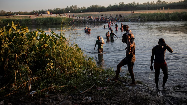 White House calls images of border agents on horses pushing back migrants at border 'horrific'