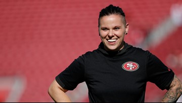 49ers' coach Katie Sowers will make history as the first woman and openly gay coach at the Super Bowl