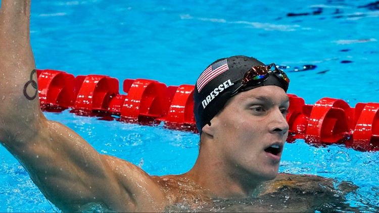 US wins relay, 5th Tokyo gold for Dressel