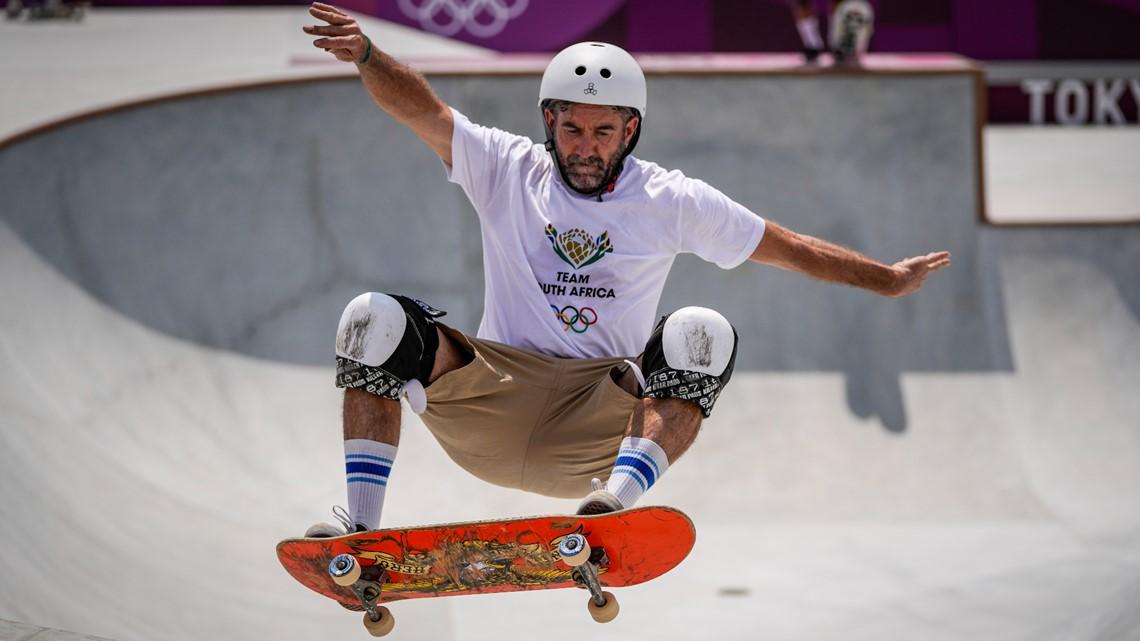 At 46, African skateboarder finally wows mom at Tokyo Games