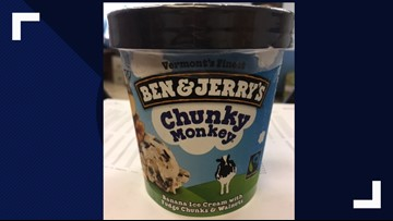 Recall issued for some Ben & Jerry's Chunky Monkey, Coconut Bar pints