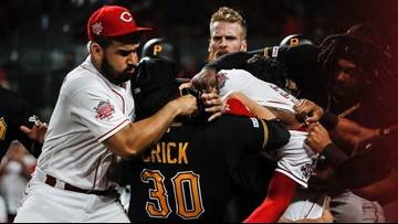 Watch: Reds reliever rushes Pirates dugout, major brawl ensues