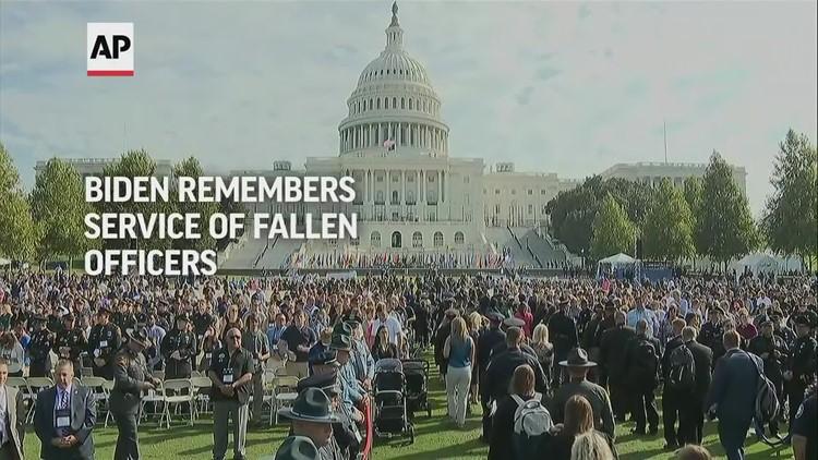 Biden remembers service of fallen officers