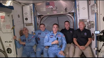 SpaceX Crew Dragon docks Sunday at International Space Station with astronauts