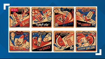 Google's July Fourth doodle let's you play baseball with your favorite food