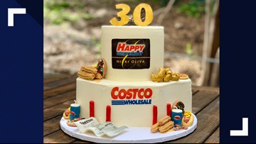 Baker's amazing 'Costco' birthday cake includes samples, churros and everything wholesale