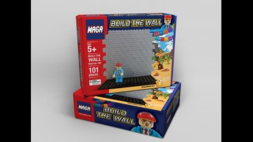 'Build the wall' toy says Trump's wall would protect against 'mob' of migrants
