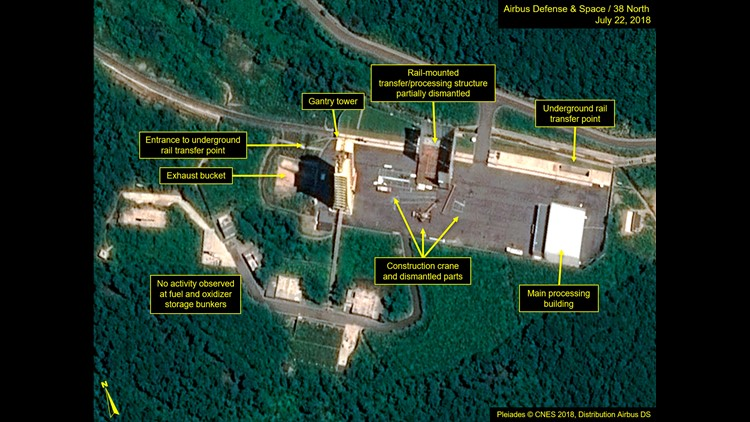 North begins dismantling missile test site