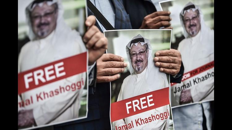 President Donald Trump says he doesn't want to cancel a massivearms deal with Saudi Arabia over missing journalistJamal Khashoggi.