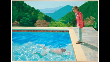David Hockney pool painting fetches $90 million, a record for a living artist