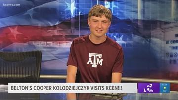 Belton's Cooper Kolodziejczyk visits KCEN!