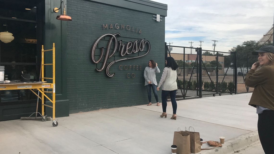 Chip And Joanna Gaines Open Magnolia Press Coffee Shop Kcentv Com