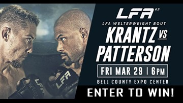 Each Winner Receives 4 General Admission Tickets to Watch the LFA Fight Streamed Live at Bell County Expo Center!