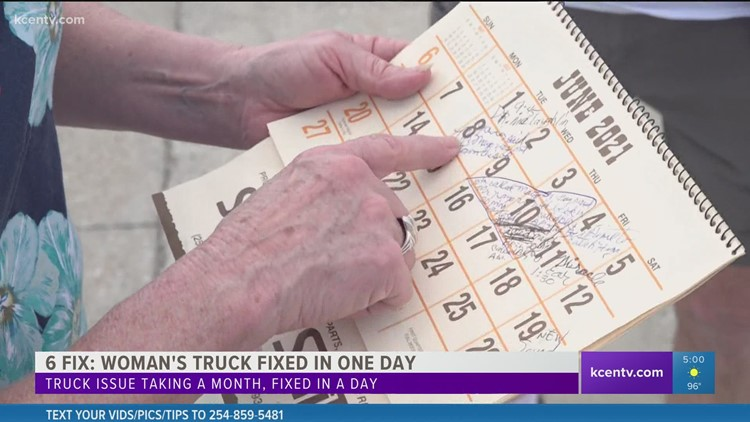 6 Fix | Woman's truck fixed in one day after story airs