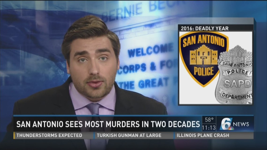 San Antonio sees most murders in two decades
