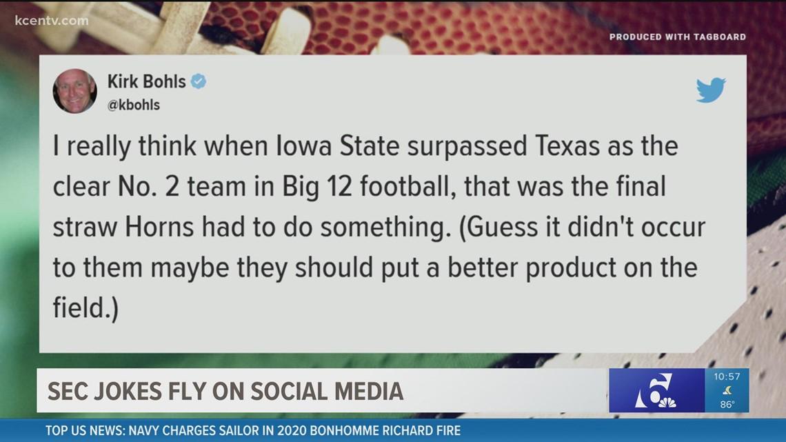 Texas, Oklahoma formally accept SEC invitations