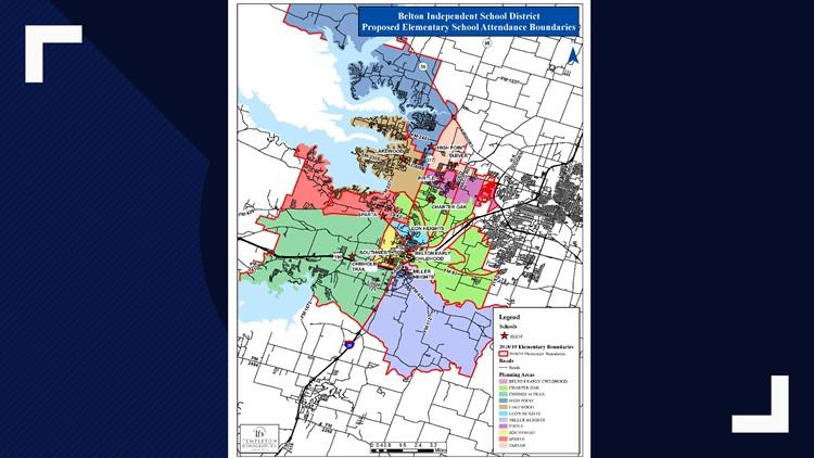 Belton ISD boundaries: elementary school