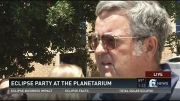 Eclipse party at the planetarium