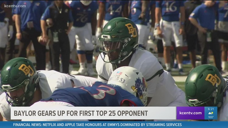 Baylor football gears up for first Top 25 opponent