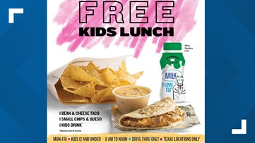 Taco Cabana offering kids free lunches this summer