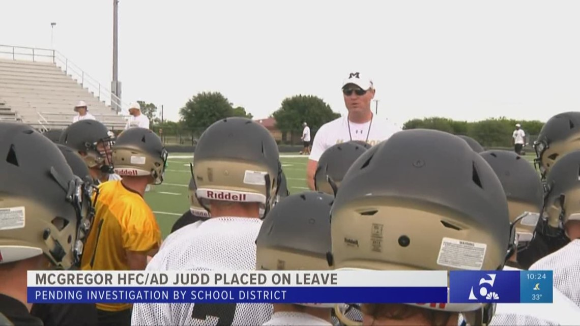 McGregor head football coach and athletic director on ...