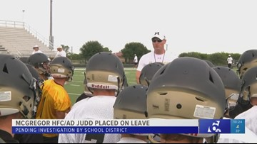 McGregor head football coach and athletic director on leave