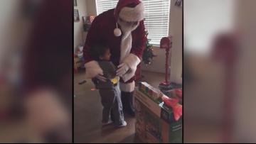 Santa makes surprise return visit to Temple