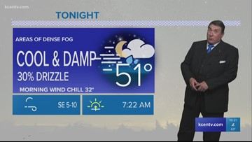 Andy's 10 p.m. forecast: Cool & damp Groundhog Dog, with a small chance of drizzle