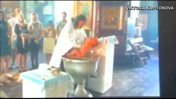 Violent Russian baptism of 1-year-old caught on camera