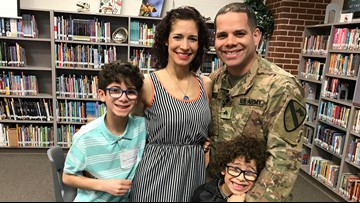 Fort Hood soldier surprises  sons after nearly a year in Germany