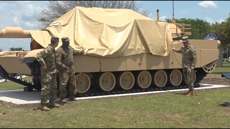 Fort Hood unveils tank on post for Army's birthday