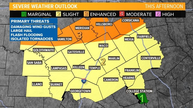 Severe weather expected for Central Texas Wednesday | kcentv com