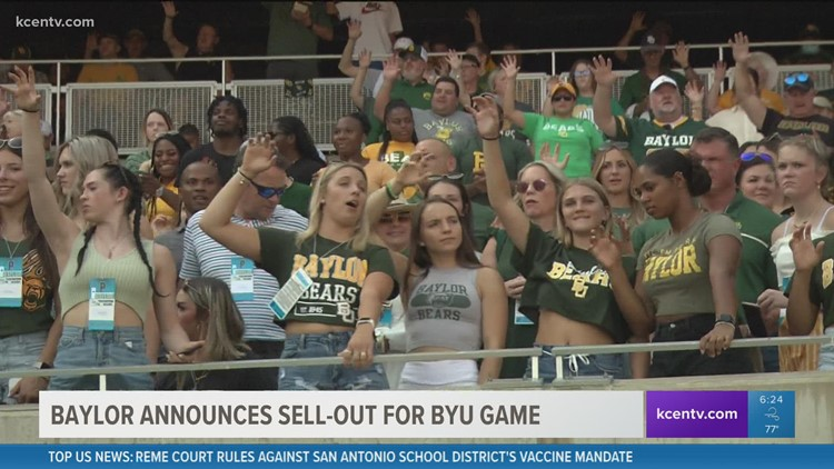 Baylor homecoming game officially sold out