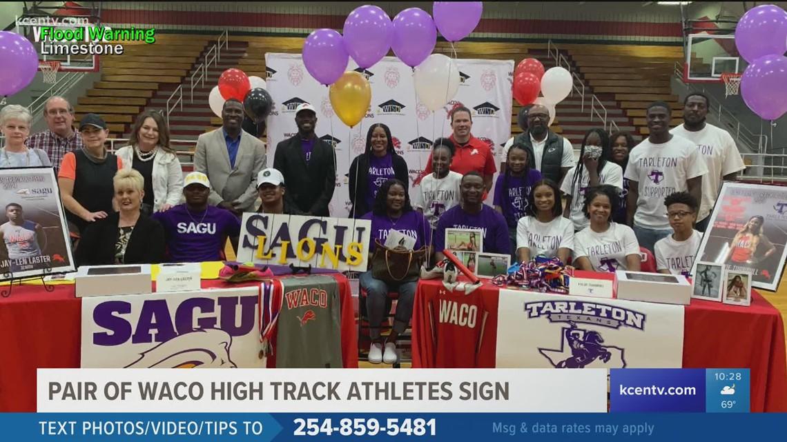 2 Waco High track athletes sign Tuesday